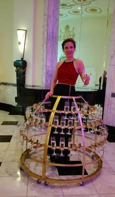 Champagne dress 1